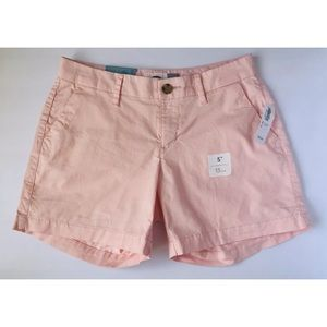 Old Navy Size 0 Chino Shorts Light Pink Cotton